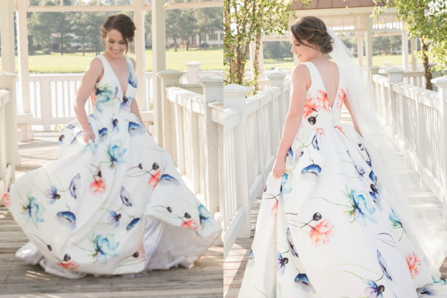 Country Club Styled Shoot With Unique Wedding Dress You'll
