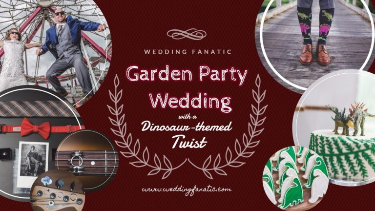 Garden Party Wedding with a Dinosaur-themed Twist
