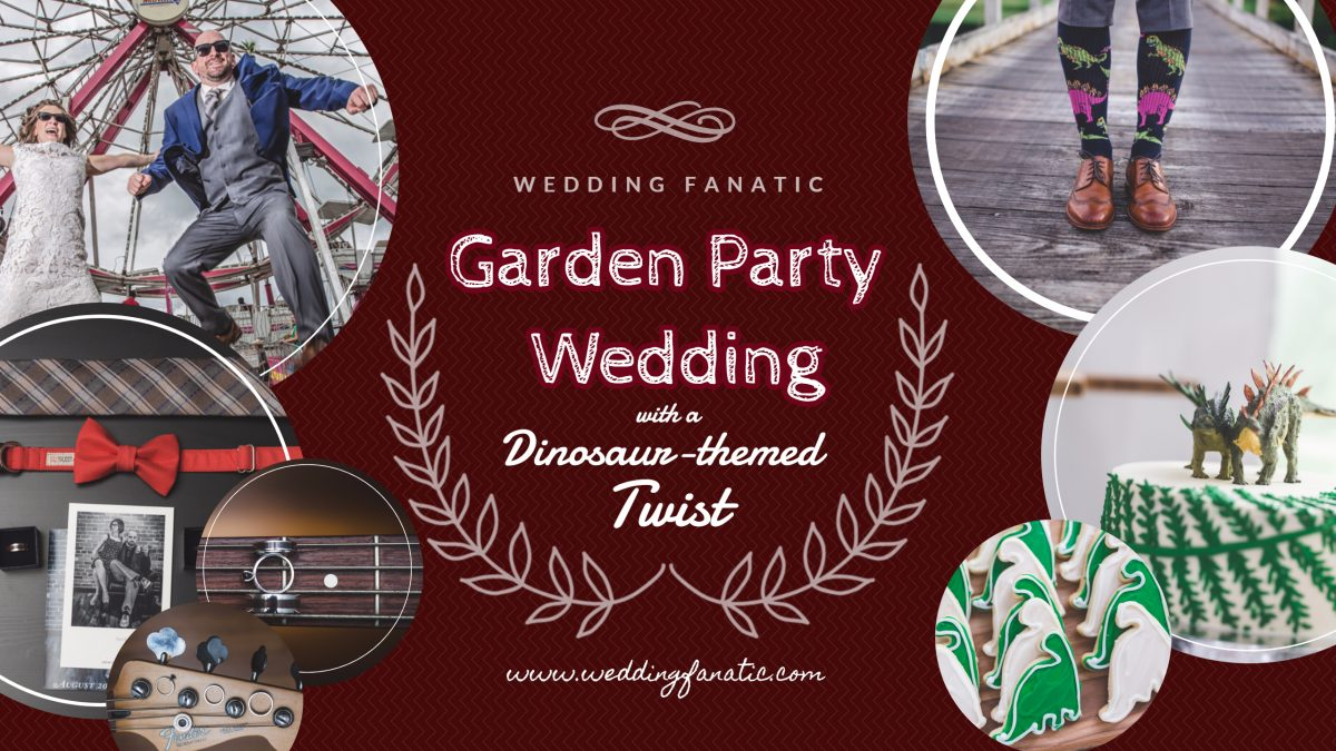 Garden Party Wedding with a Dinosaur-themed Twist - Wedding Fanatic