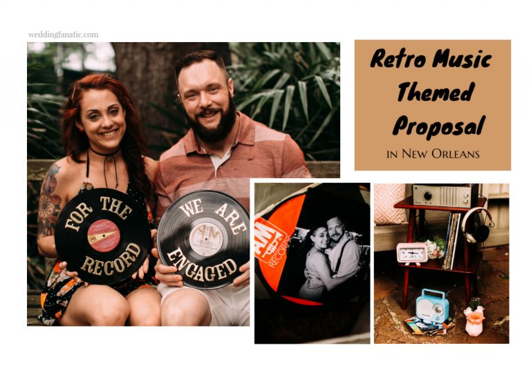 Retro Music Themed Proposal in New Orleans