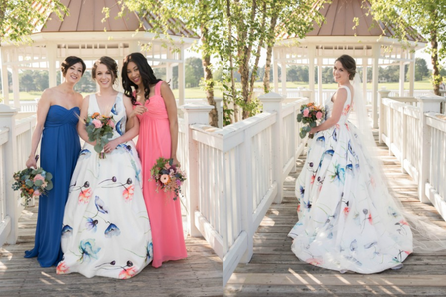 Country Club Styled Shoot with Unique Wedding Dress Youll Love