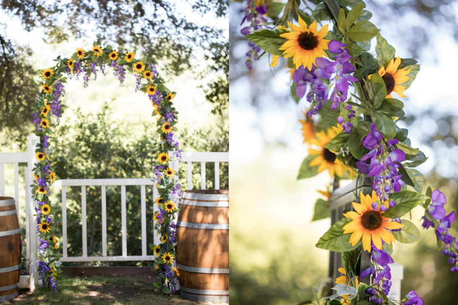 Rustic Purple Sunflower