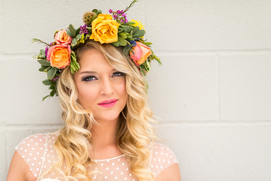 Sweet Peach and Wild Violet Styled Bridal
