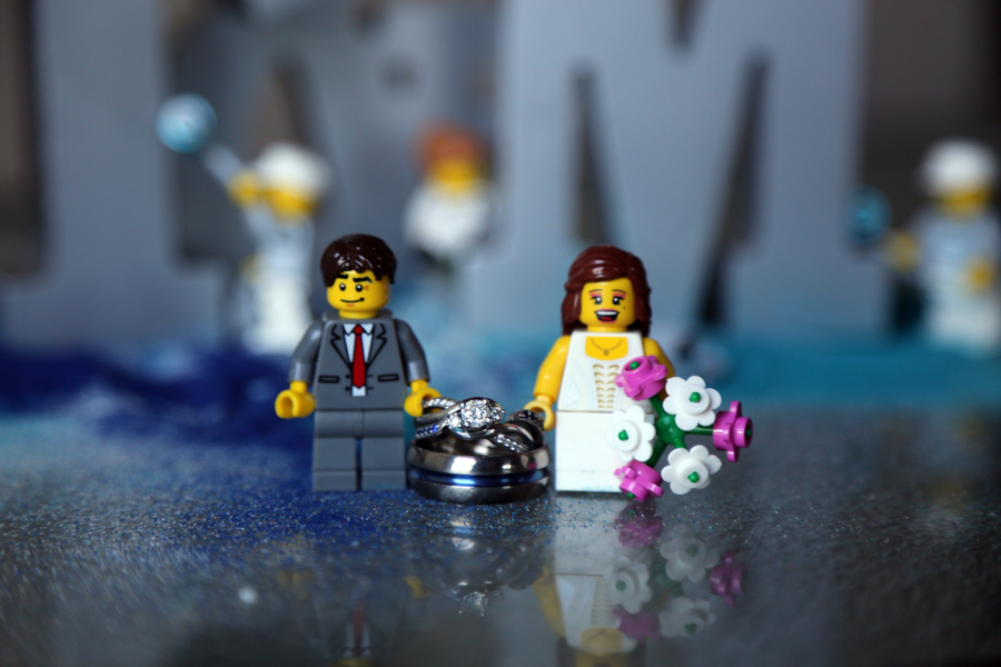 Lego and Game themed Wedding