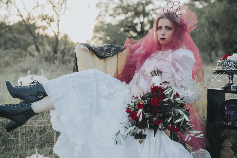Spooky Bridals : Halloween inspired with a Punk Rock Attitude