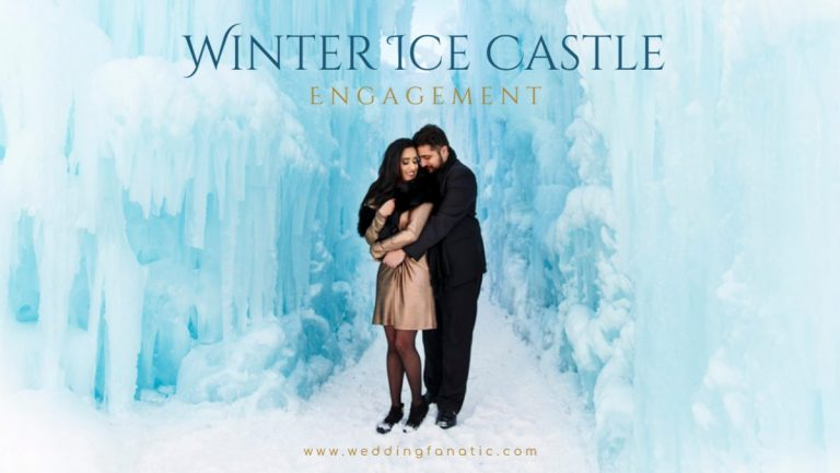 Winter Ice Castle Engagement