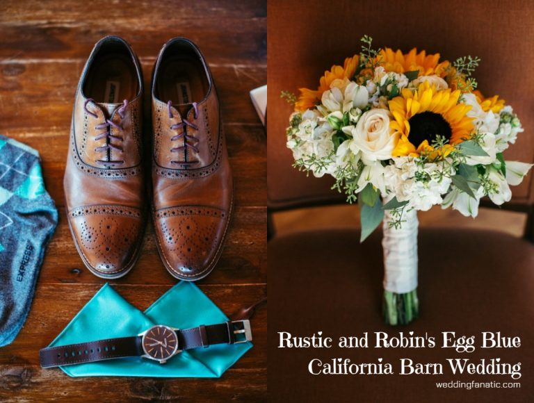 Rustic and Robin's Egg Blue California Barn Wedding
