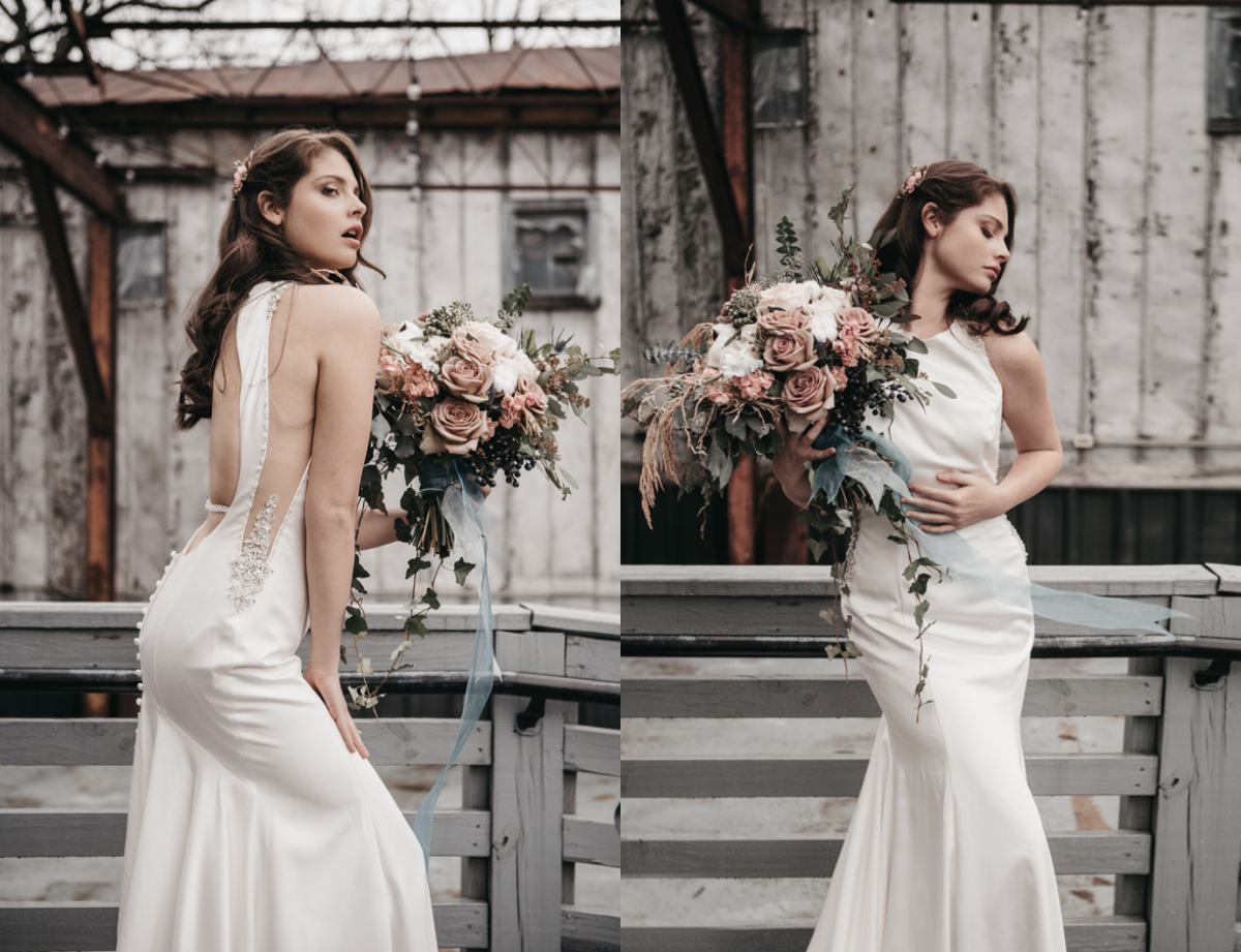 Bold and Minimalistic Modern Bridal Shoot