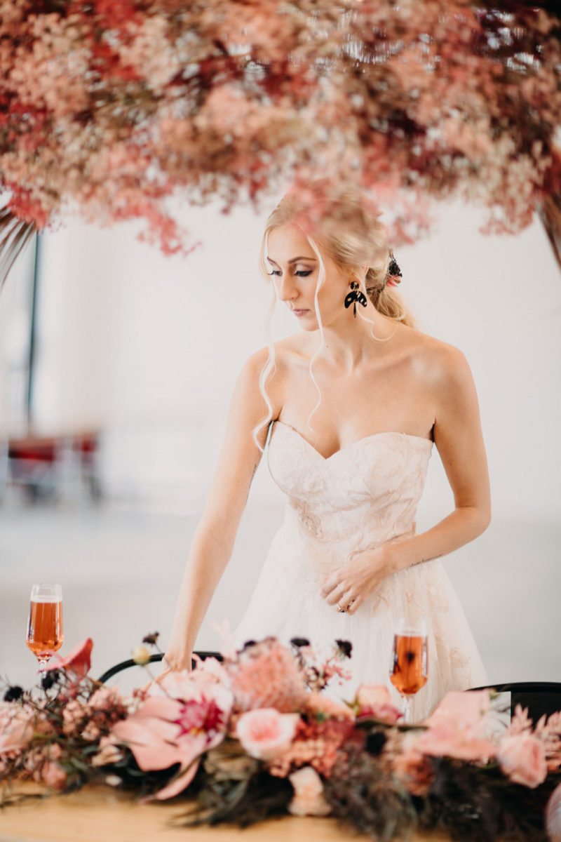 Color Inspo: Pink and Black Styled Wedding