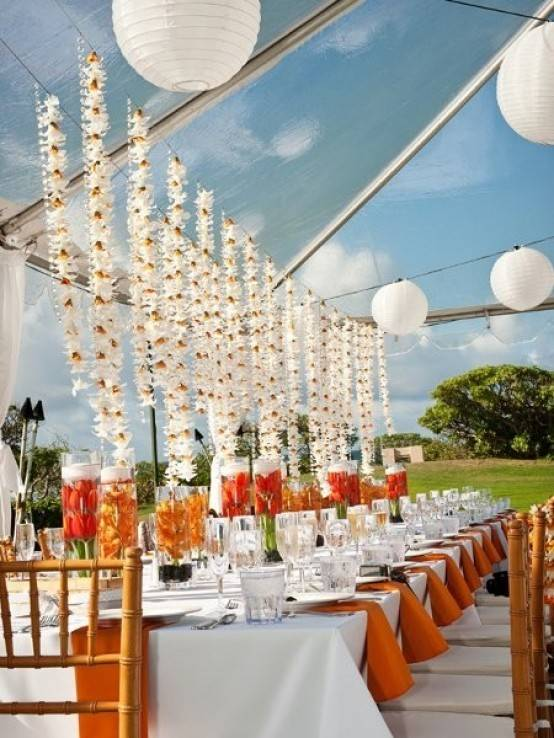 Lighted Flower Reception Décor