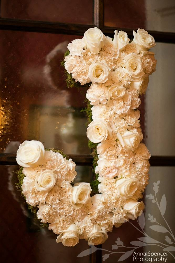 Wedding Gift Idea: Flower Covered Initial