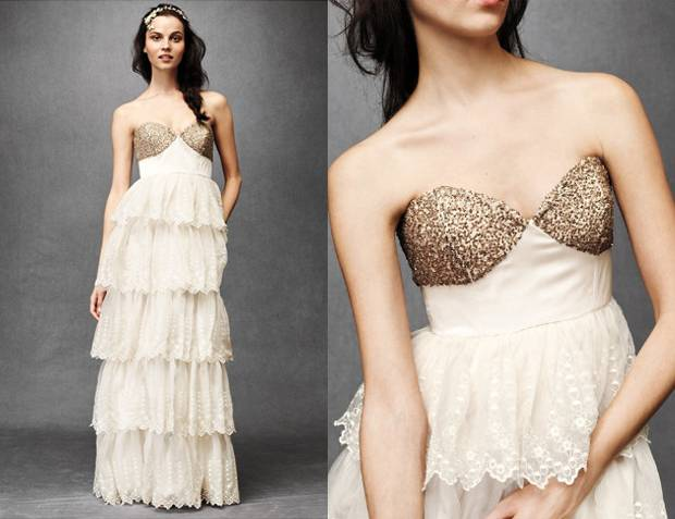 5 Beautiful Sparkling Wedding Dresses