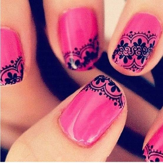 Bridal Shower Nail Art Ideas
