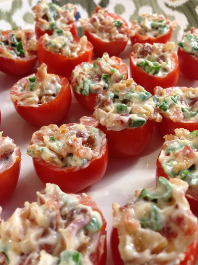 Stuffed Cherry Tomato Appetizer for Your Wedding Shower