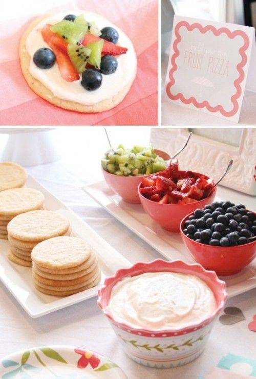 DIY Wedding Shower Fruit Pizza Bar