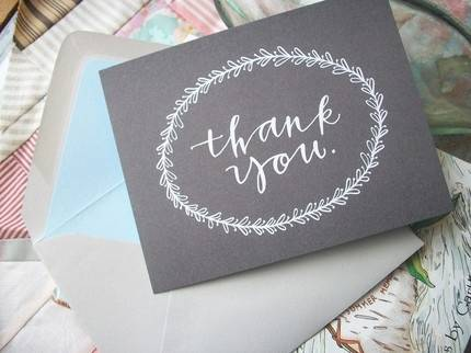 Wedding Shower Thank You Note Wording