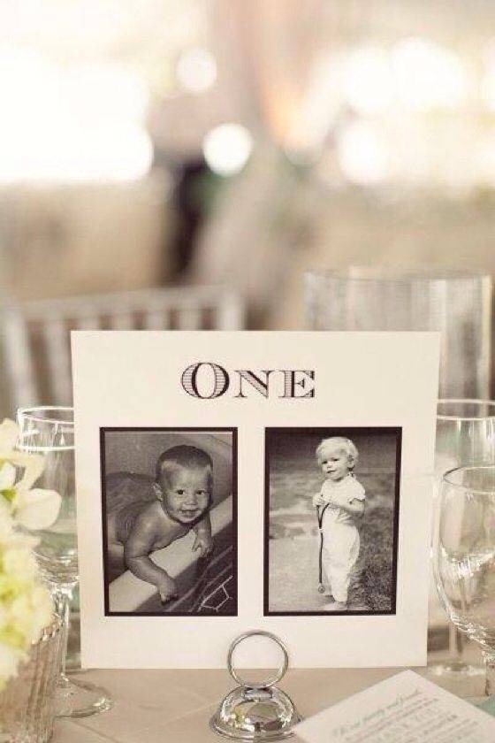4 Clever Table Number Ideas