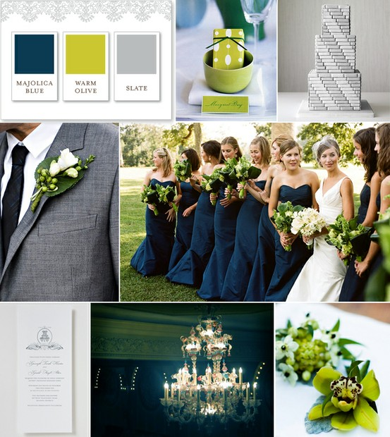 Wedding Color Palette: Gray, Green and Navy - Wedding Fanatic