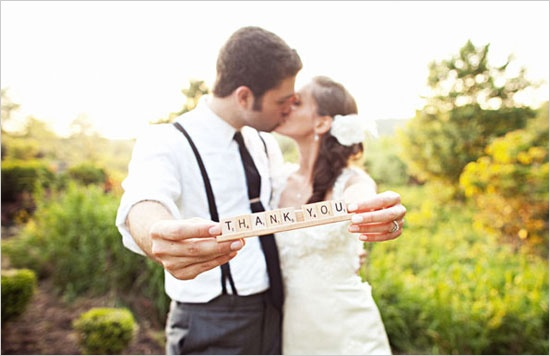 Fun Wedding Photos to Use for Thank You Cards