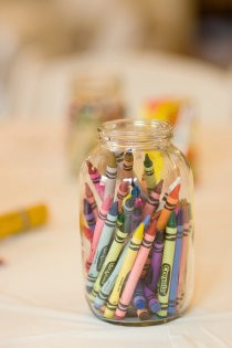 Crayons for Children at Wedding
