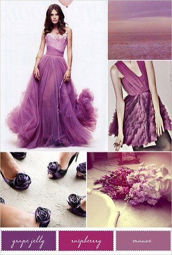 Grape, Raspberry and Mauve Color Palette