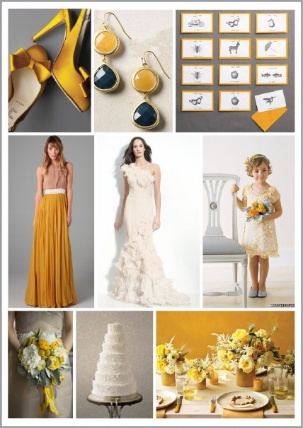 Marigold and Pewter Color Palette