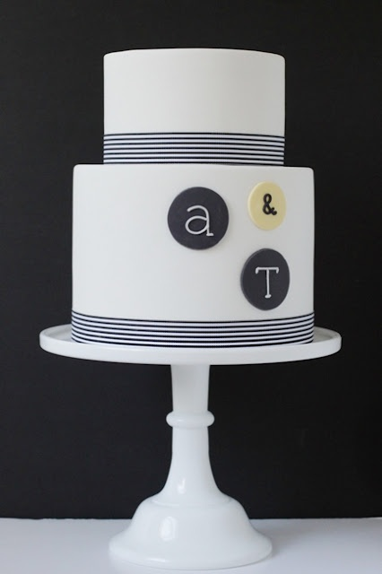 Modern Two-Tiered Wedding Cake