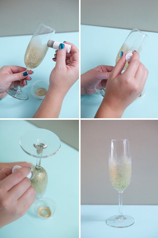 Make Your Own Sparkling Wedding Glasses