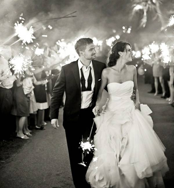 The Wedding Sparkler Send-Off - Wedding Fanatic