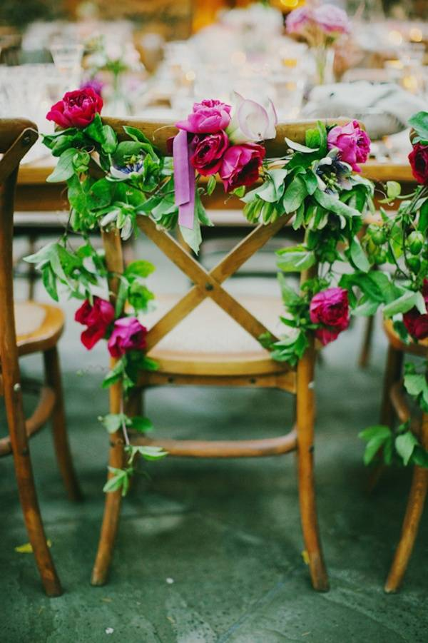 Garden Decor on Wedding Chair