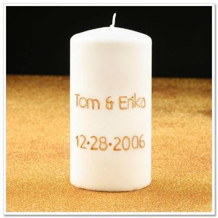Engraved Wedding Candle
