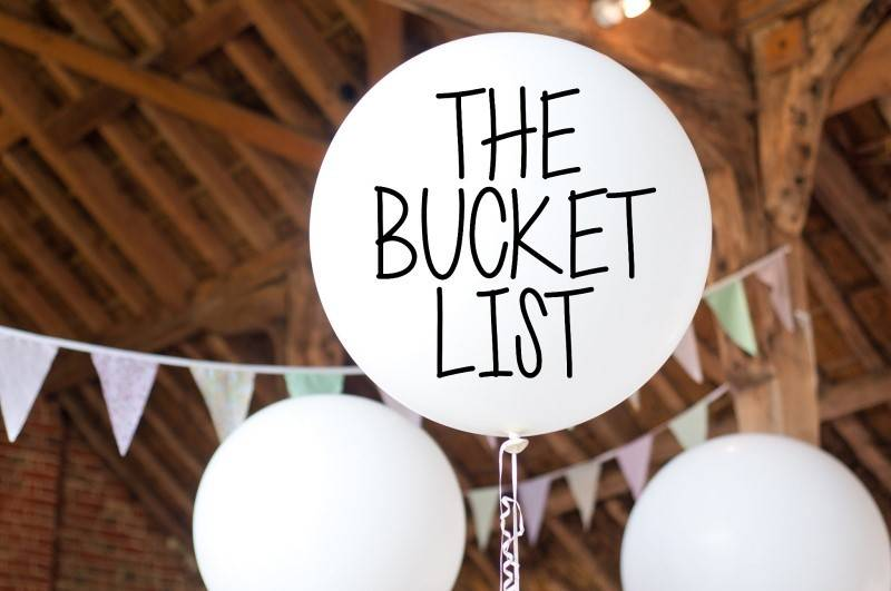 Bride and Groom Bucket List Idea